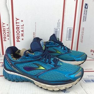 Brooks Womens Ghost 7 Blue Running Shoes Size 9.5